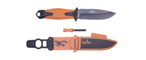 KNIFE IGNITE FIXED BLACK/ORANGE