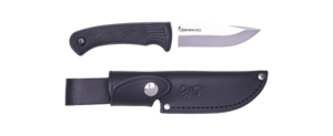 KNIFE PRO HUNTER FIXED RUBBER BLACK